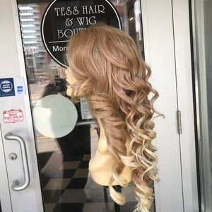 Accessories - Wig Blonde Lacefront Swisslace Human hair Blende